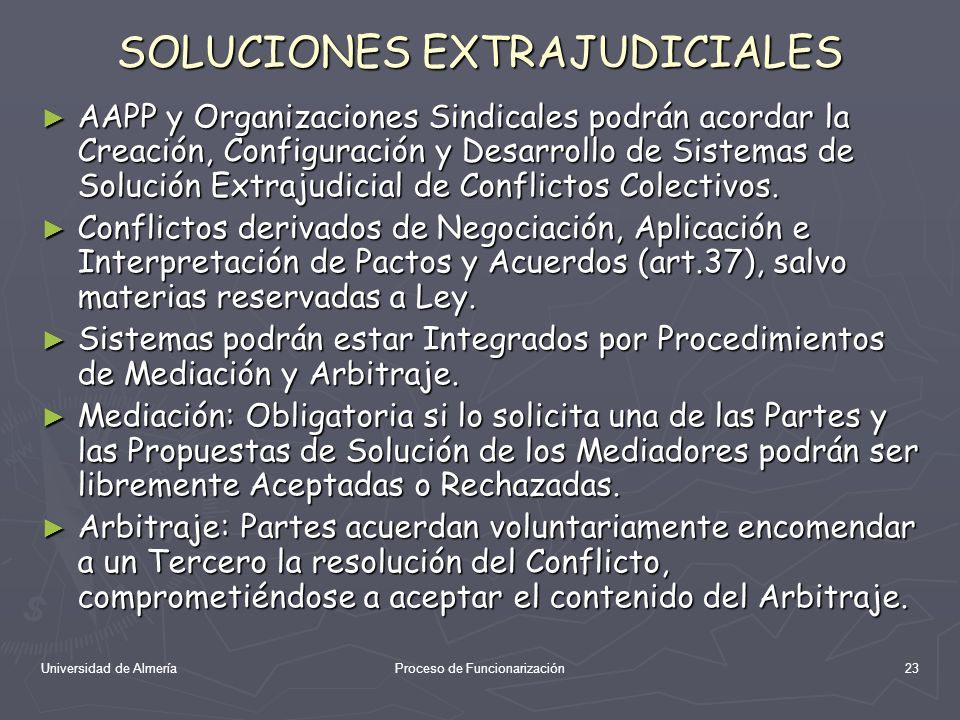 SOLUCIONES EXTRAJUDICIALES