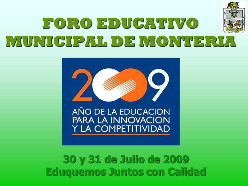 FORO EDUCATIVO MUNICIPAL DE MONTERIA
