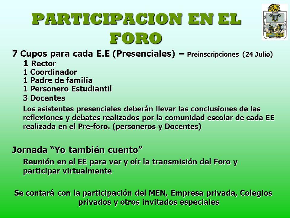 PARTICIPACION EN EL FORO