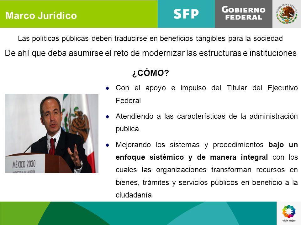 Marco Jurídico Las políticas públicas deben traducirse en beneficios tangibles para la sociedad.