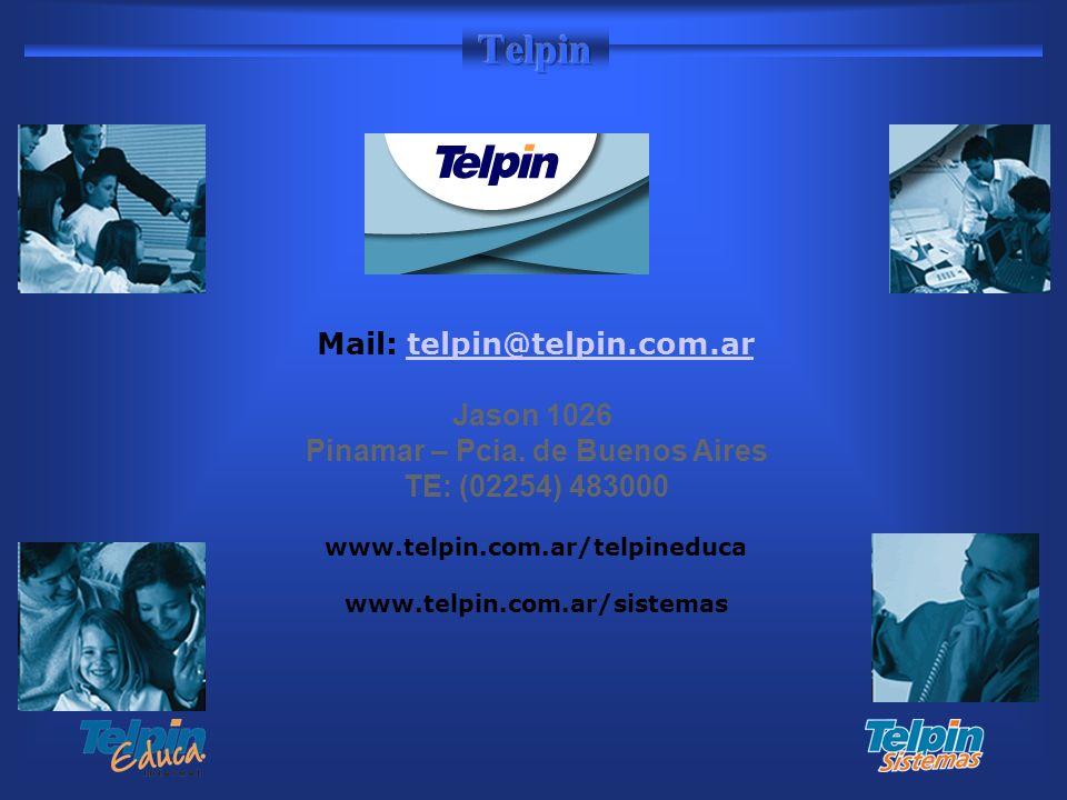 Mail: telpin@telpin.com.ar Pinamar – Pcia. de Buenos Aires