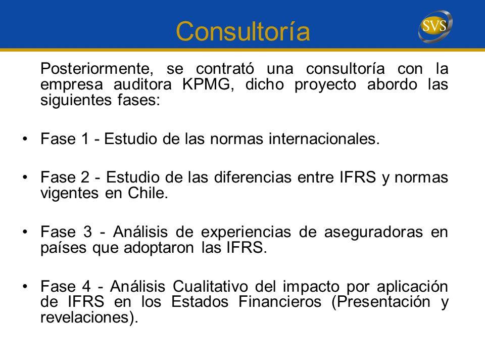 Consultoría Posteriormente, se contrató una consultoría con la empresa auditora KPMG, dicho proyecto abordo las siguientes fases: