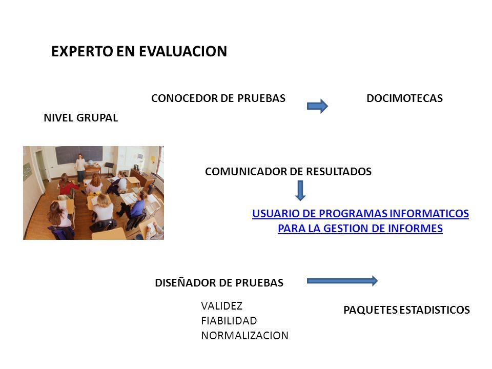 USUARIO DE PROGRAMAS INFORMATICOS PARA LA GESTION DE INFORMES
