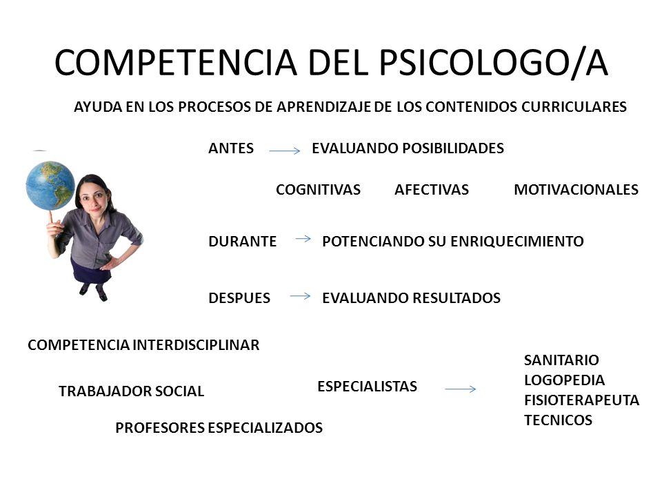 COMPETENCIA DEL PSICOLOGO/A