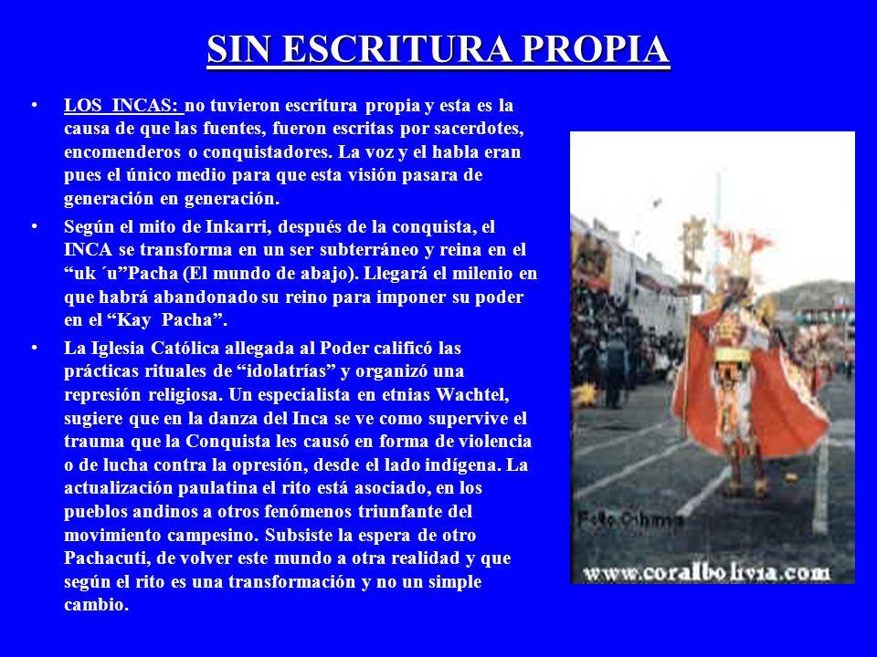 SIN ESCRITURA PROPIA