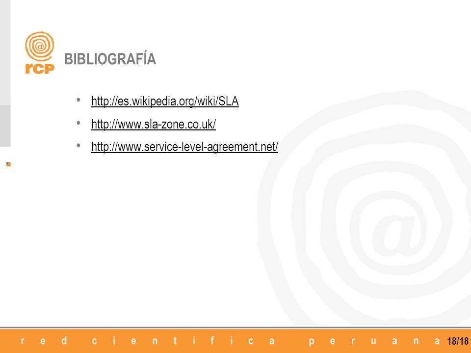 BIBLIOGRAFÍA http://es.wikipedia.org/wiki/SLA