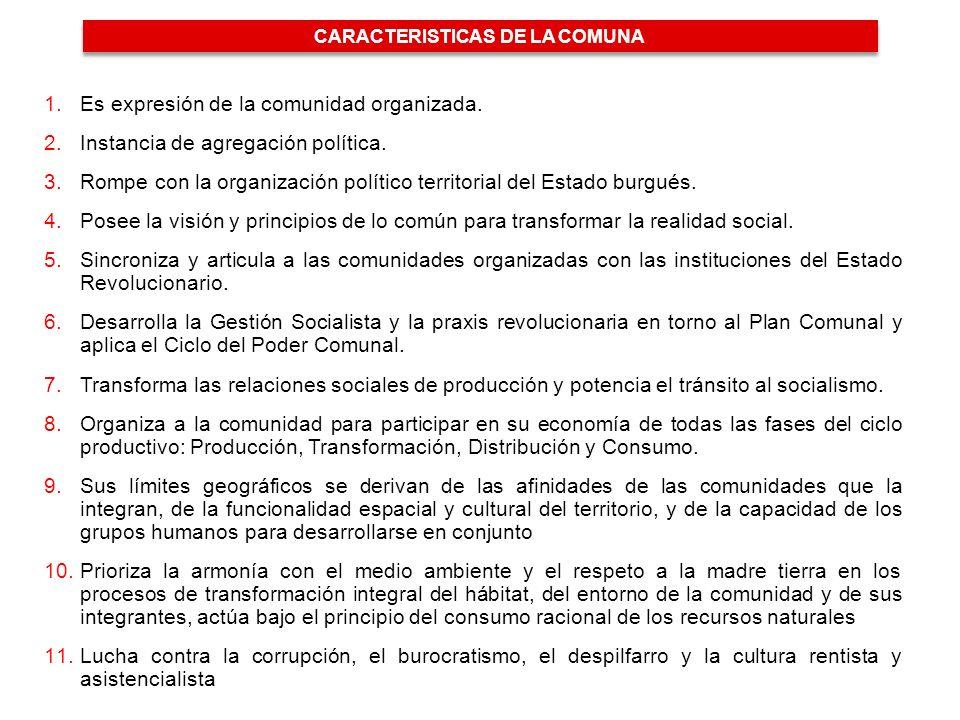 CARACTERISTICAS DE LA COMUNA