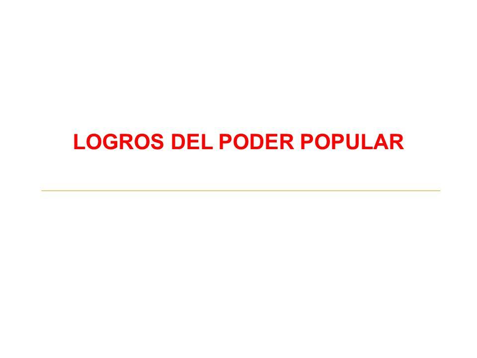 LOGROS DEL PODER POPULAR