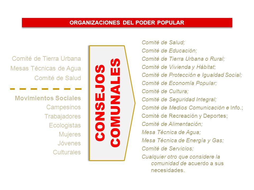 ORGANIZACIONES DEL PODER POPULAR