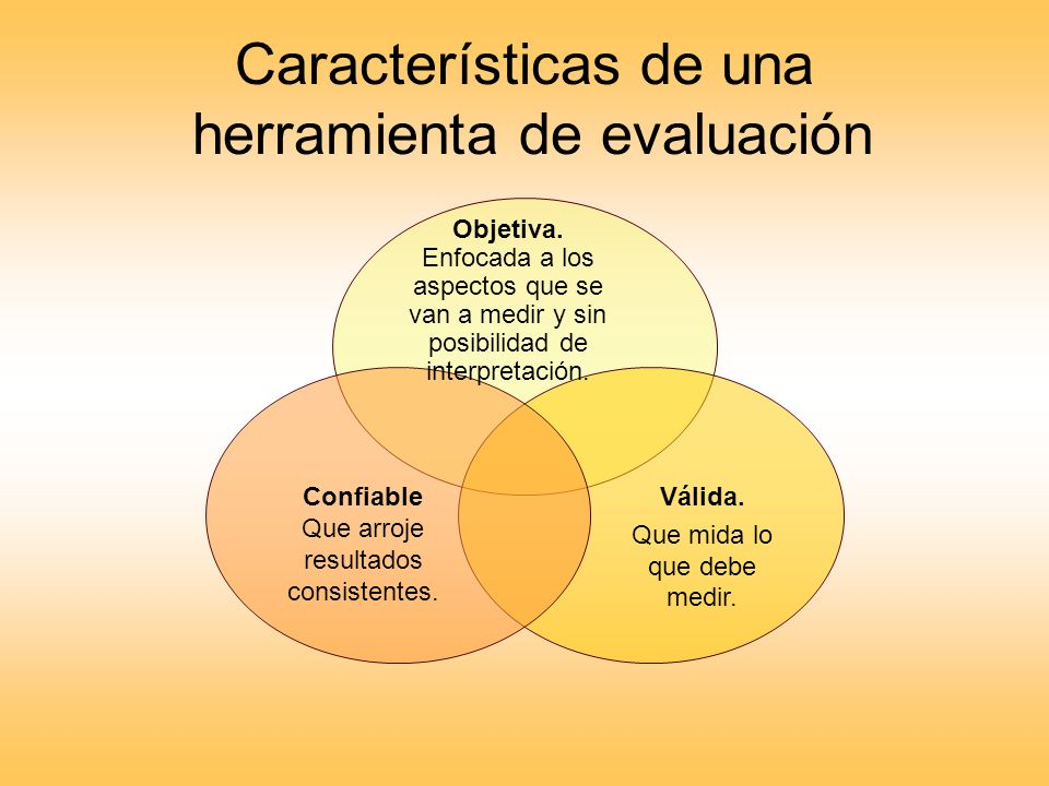 Características de una herramienta de evaluación