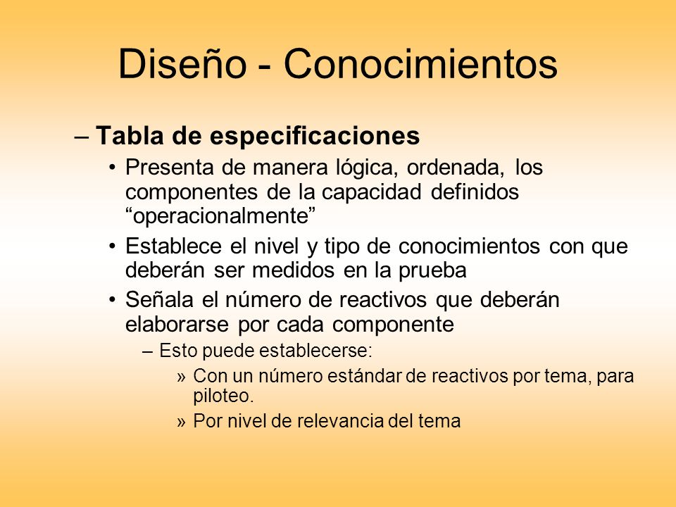 Diseño - Conocimientos