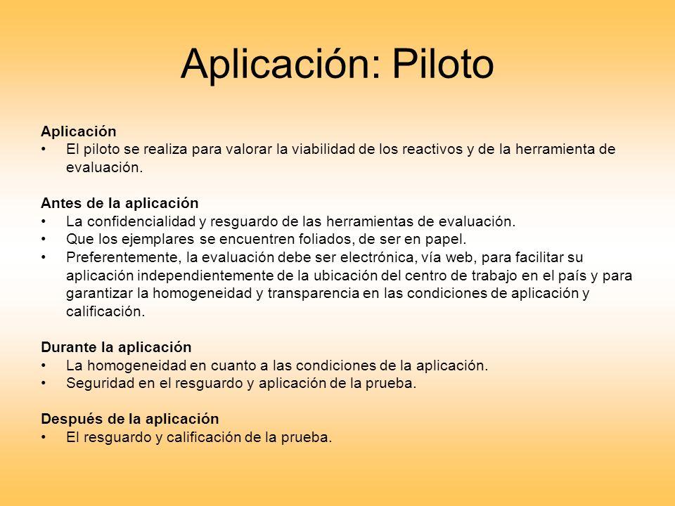 Aplicación: Piloto Aplicación