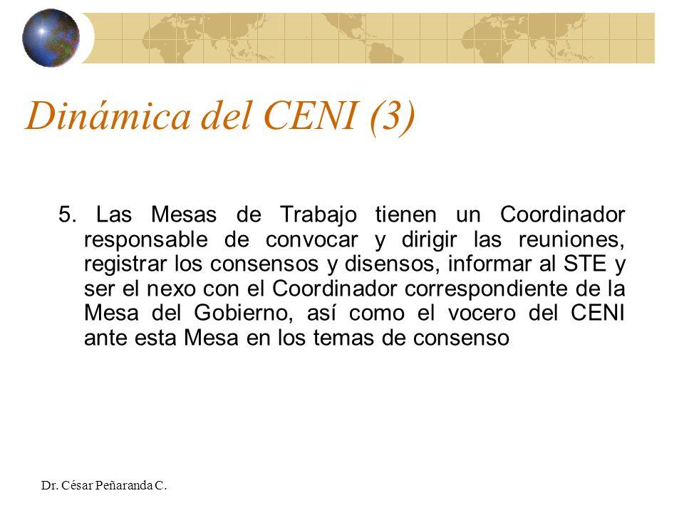 Dinámica del CENI (3)
