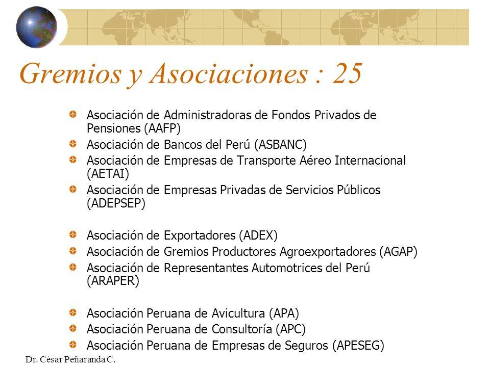 Gremios y Asociaciones : 25