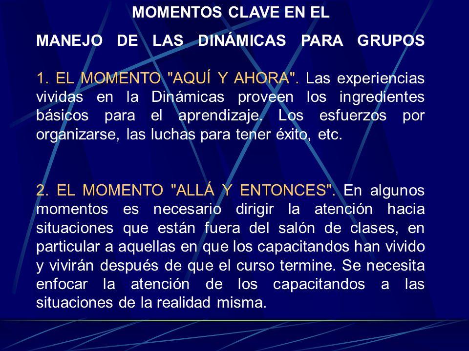 MOMENTOS CLAVE EN EL