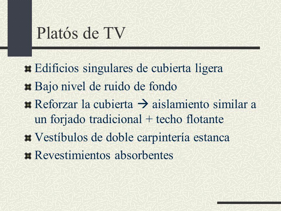 Platós de TV Edificios singulares de cubierta ligera