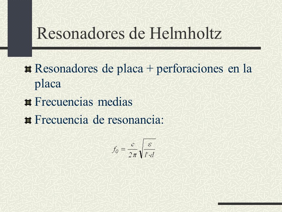 Resonadores de Helmholtz
