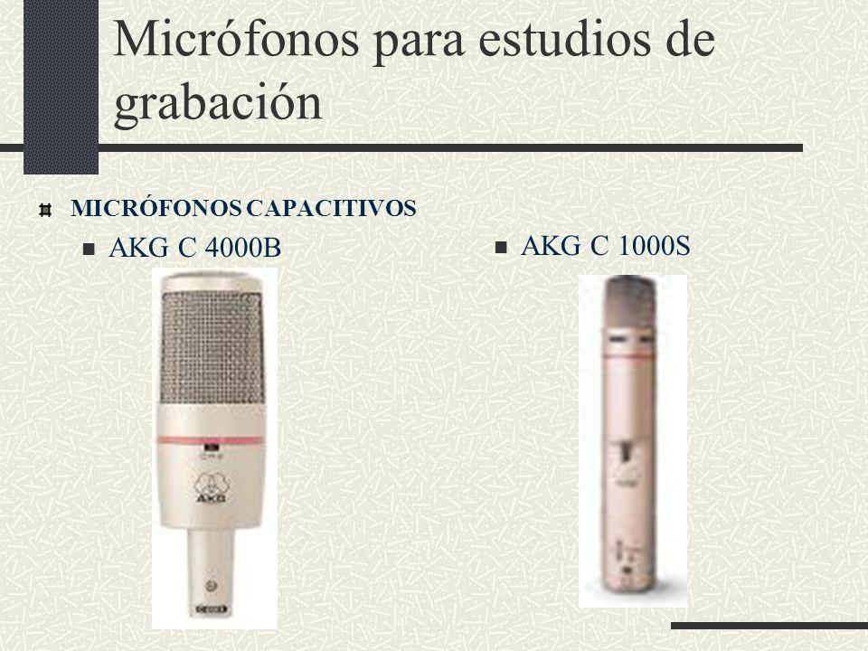 Micrófonos para estudios de grabación