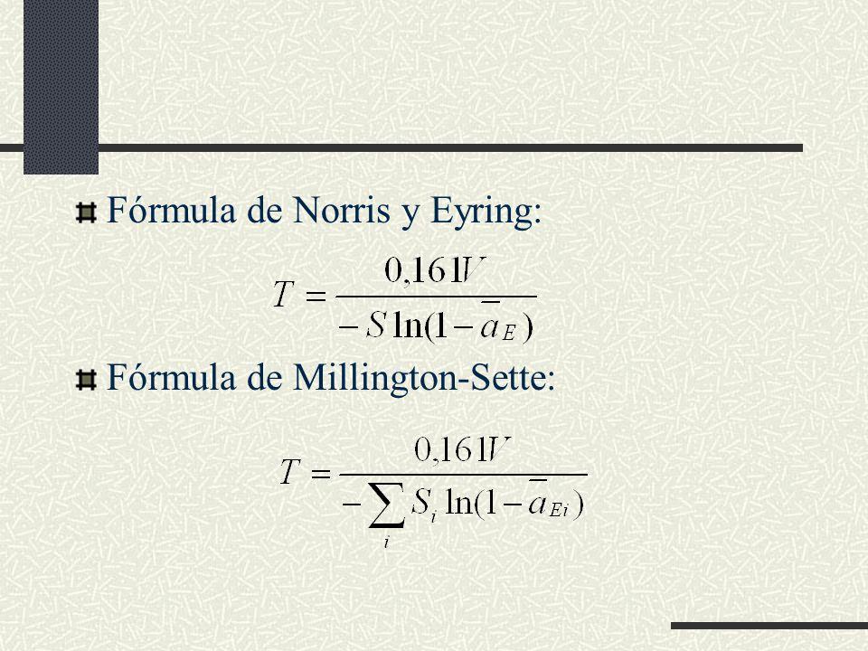 Fórmula de Norris y Eyring:
