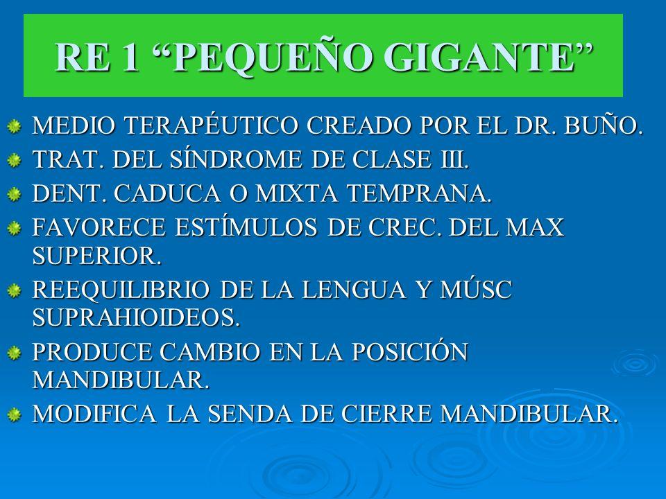 RE 1 PEQUEÑO GIGANTE MEDIO TERAPÉUTICO CREADO POR EL DR. BUÑO.