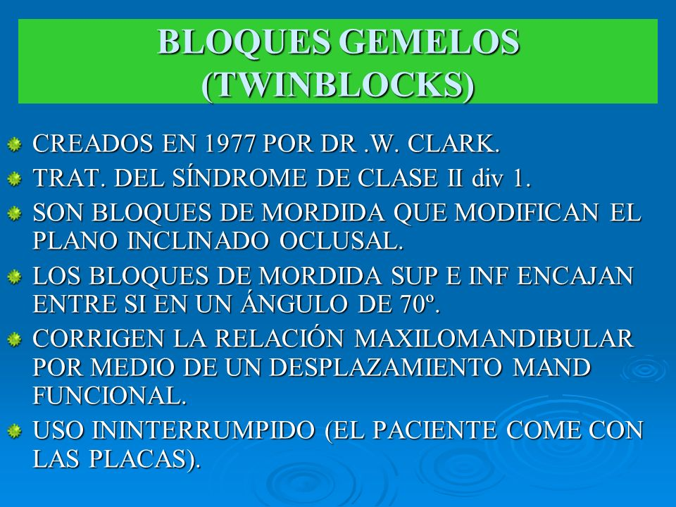 BLOQUES GEMELOS (TWINBLOCKS)