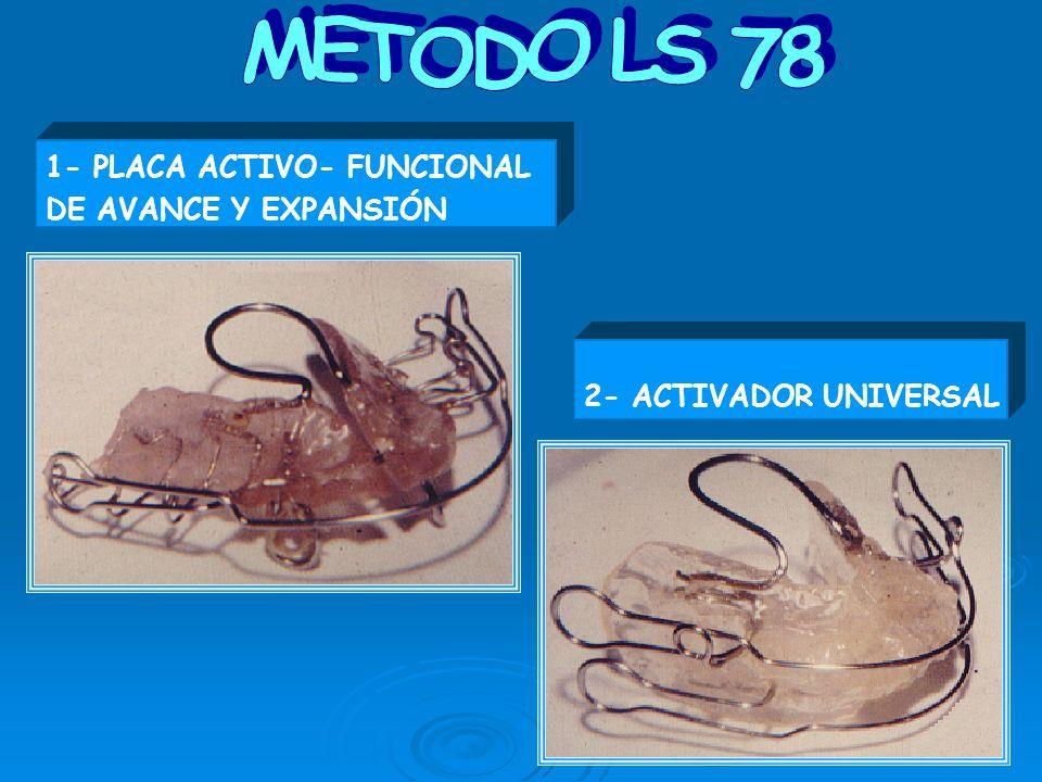 METODO LS 78 1- PLACA ACTIVO- FUNCIONAL DE AVANCE Y EXPANSIÓN 2- ACTIVADOR UNIVERSAL