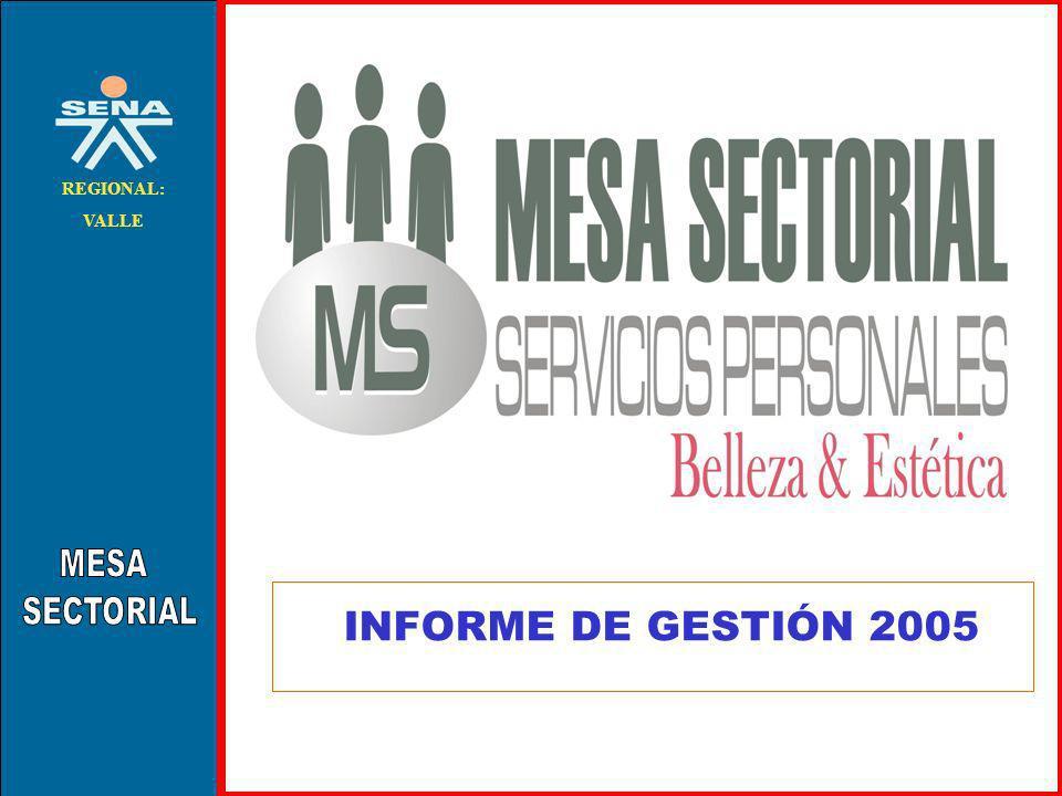 MESA SECTORIAL REGIONAL: VALLE INFORME DE GESTIÓN 2005