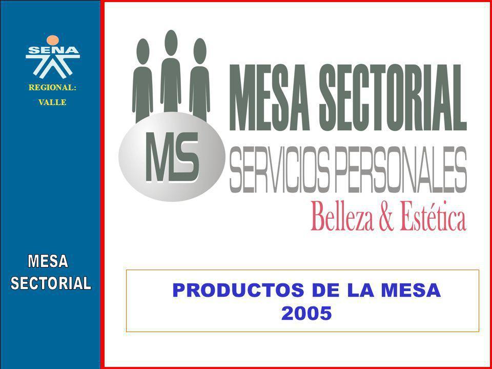 MESA SECTORIAL REGIONAL: VALLE PRODUCTOS DE LA MESA 2005