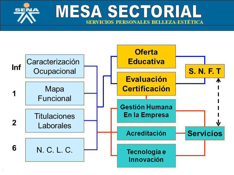 Oferta Educativa S. N. F. T Evaluación Certificación Servicios