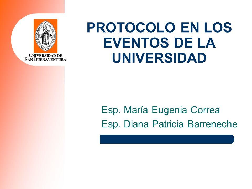 PROTOCOLO EN LOS EVENTOS DE LA UNIVERSIDAD
