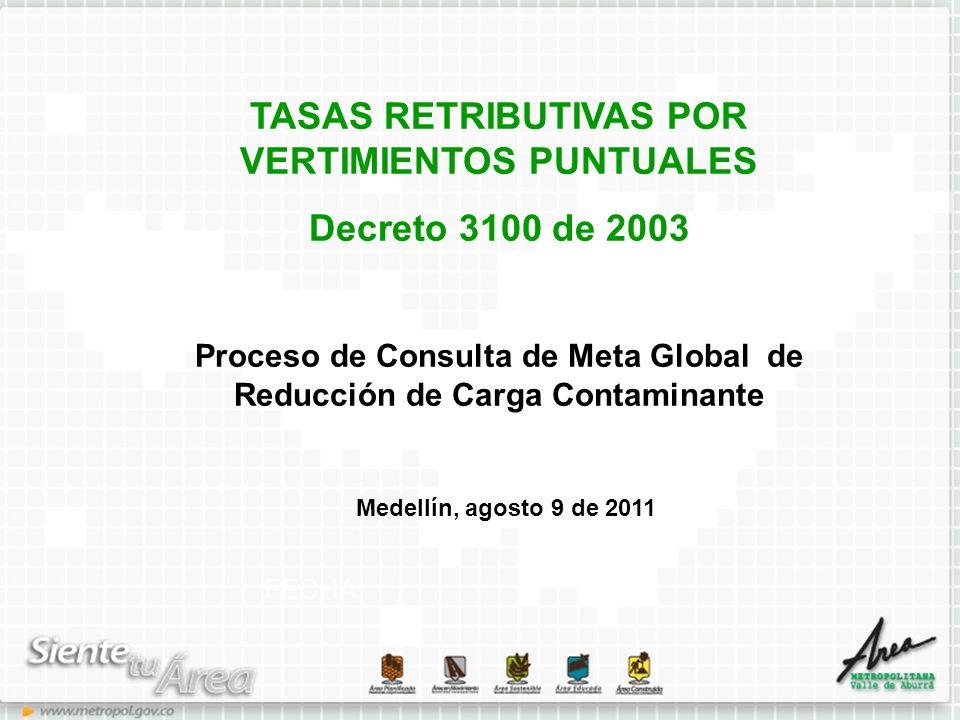 TASAS RETRIBUTIVAS POR VERTIMIENTOS PUNTUALES Decreto 3100 de 2003