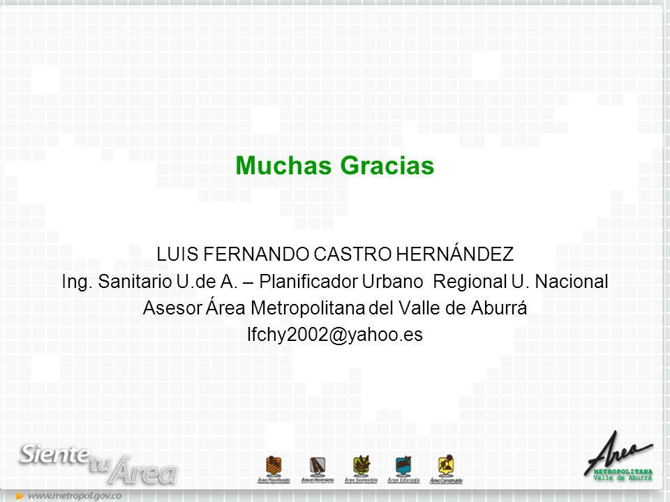 Muchas Gracias LUIS FERNANDO CASTRO HERNÁNDEZ