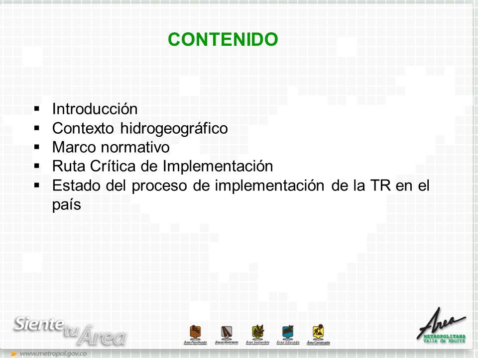 CONTENIDO Introducción Contexto hidrogeográfico Marco normativo