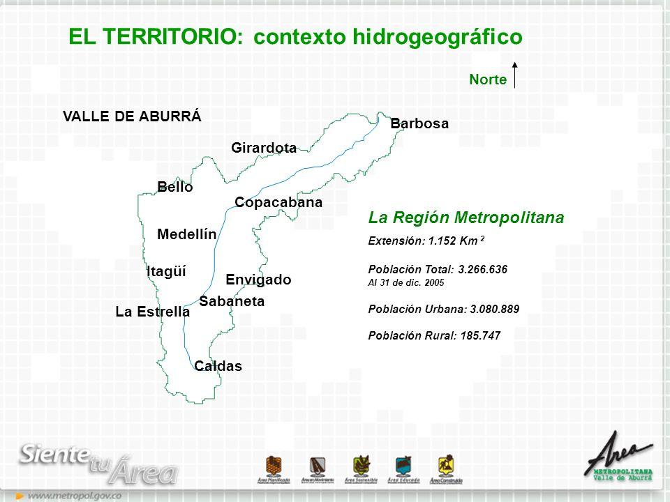 EL TERRITORIO: contexto hidrogeográfico
