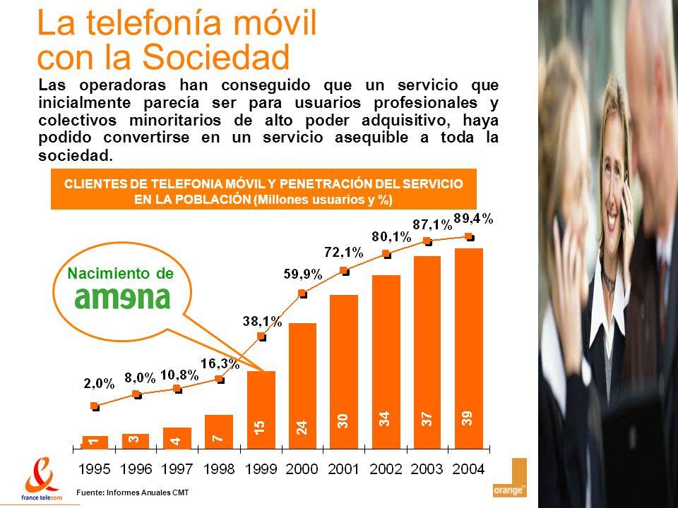 La telefonía móvil con la Sociedad