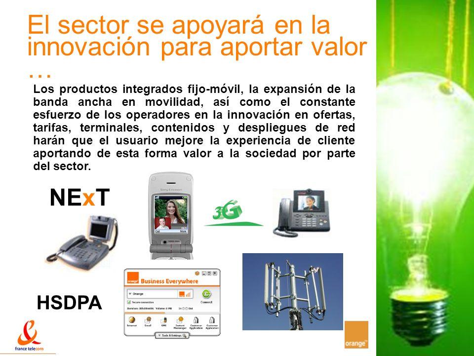 El sector se apoyará en la innovación para aportar valor …