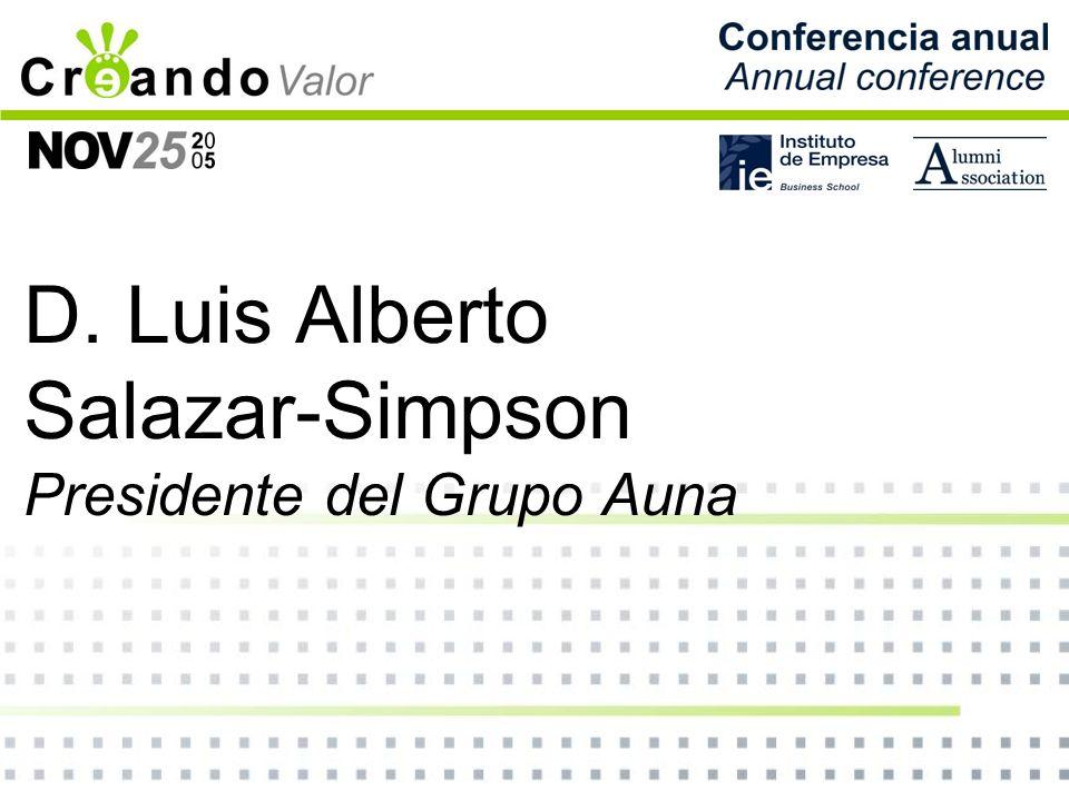 D. Luis Alberto Salazar-Simpson Presidente del Grupo Auna