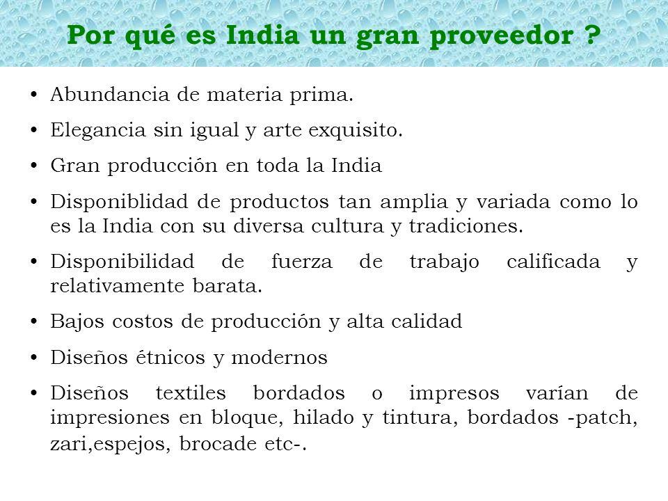 Por qué es India un gran proveedor