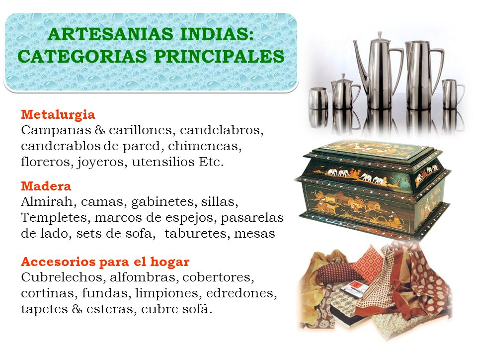 ARTESANIAS INDIAS: CATEGORIAS PRINCIPALES