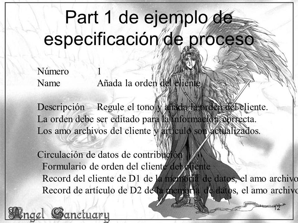 Part 1 de ejemplo de especificación de proceso