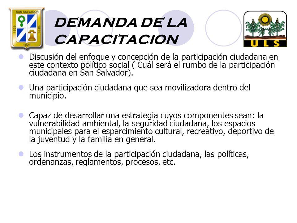 DEMANDA DE LA CAPACITACION