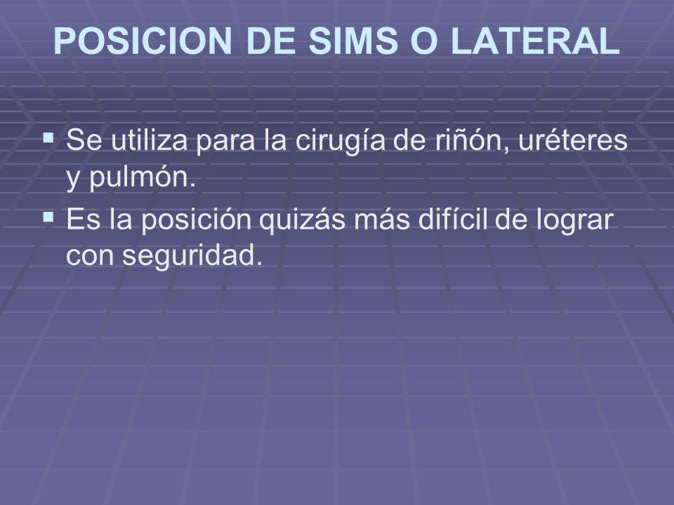 POSICION DE SIMS O LATERAL