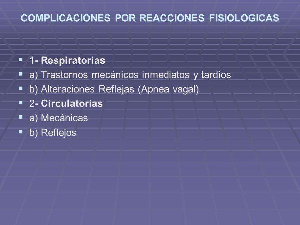 COMPLICACIONES POR REACCIONES FISIOLOGICAS