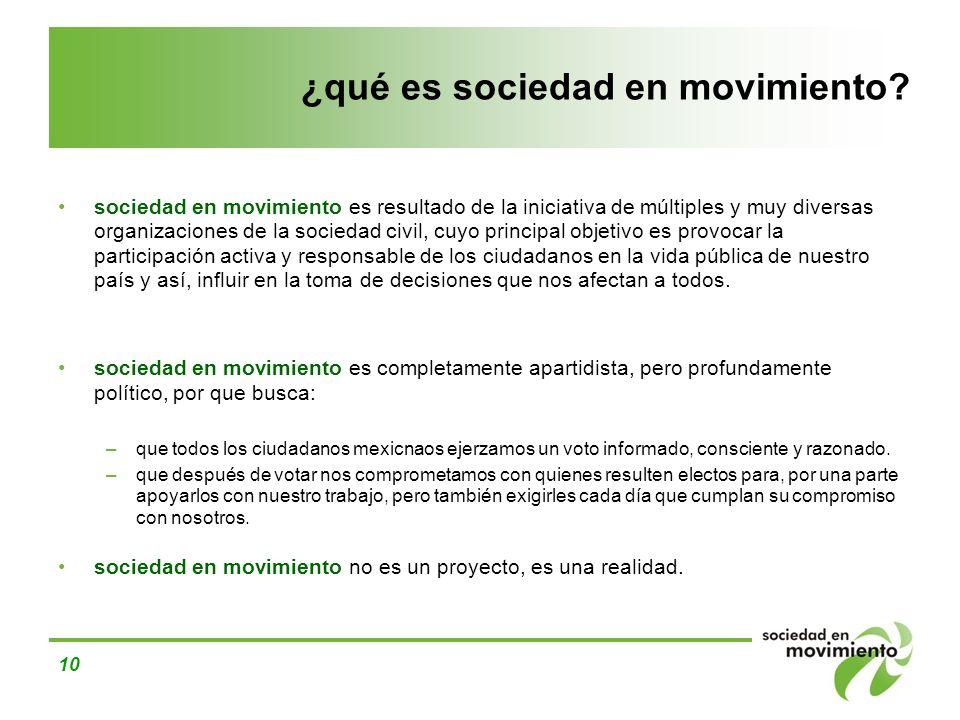 ¿qué es sociedad en movimiento