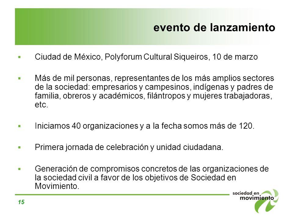 evento de lanzamiento Ciudad de México, Polyforum Cultural Siqueiros, 10 de marzo.