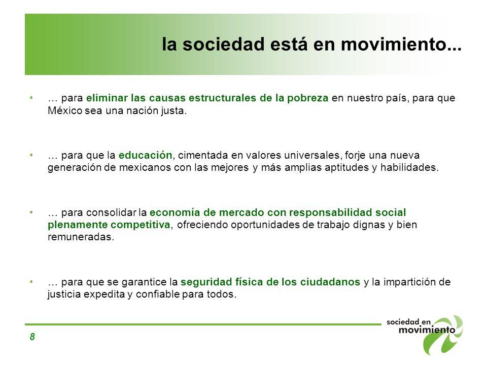 la sociedad está en movimiento...