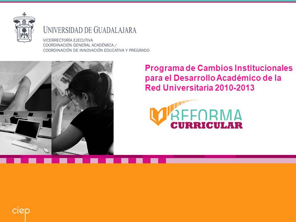 Programa de Cambios Institucionales para el Desarrollo Académico de la Red Universitaria 2010-2013