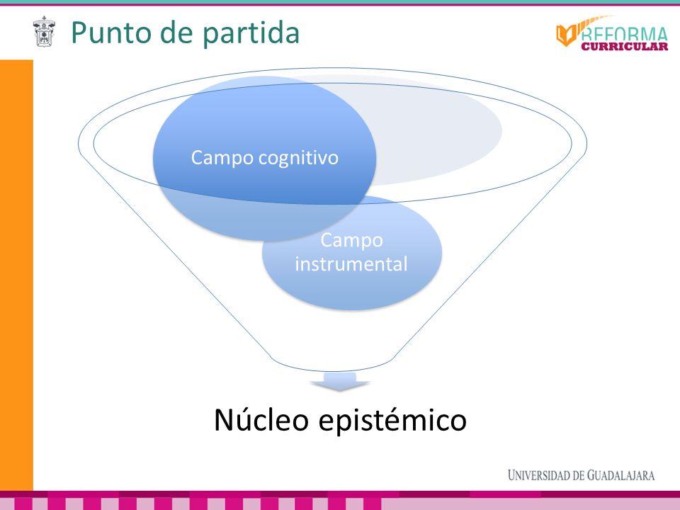 Punto de partida Núcleo epistémico Campo instrumental Campo cognitivo