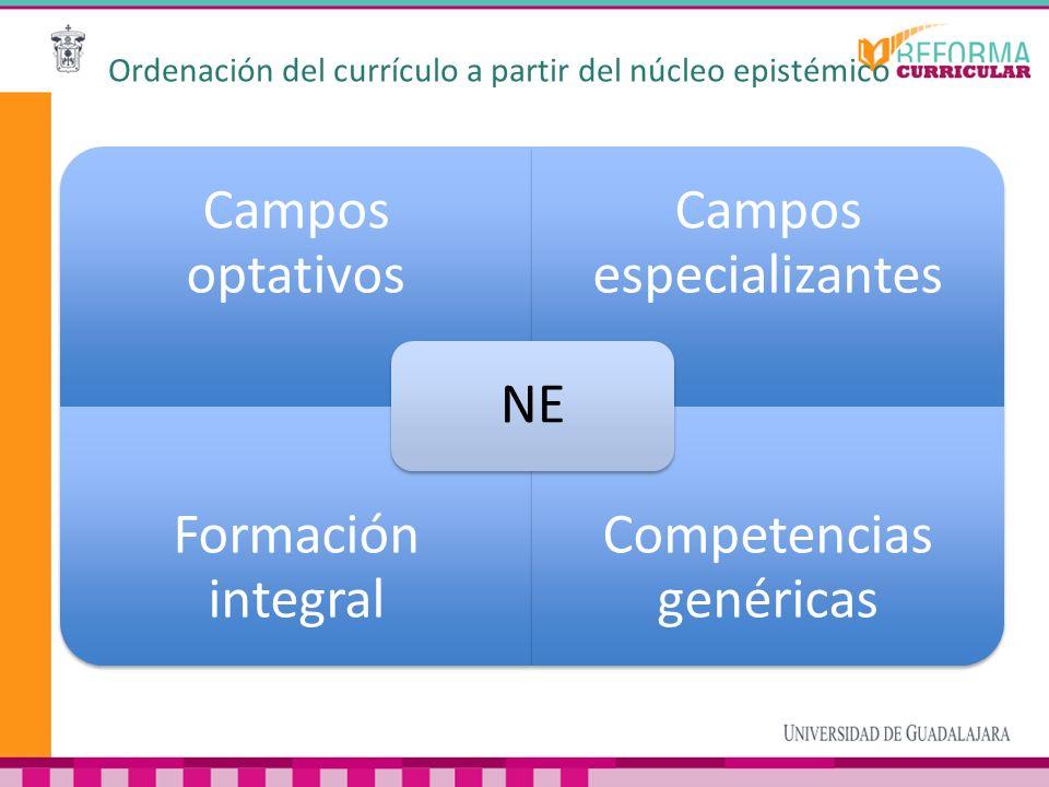 Ordenación del currículo a partir del núcleo epistémico