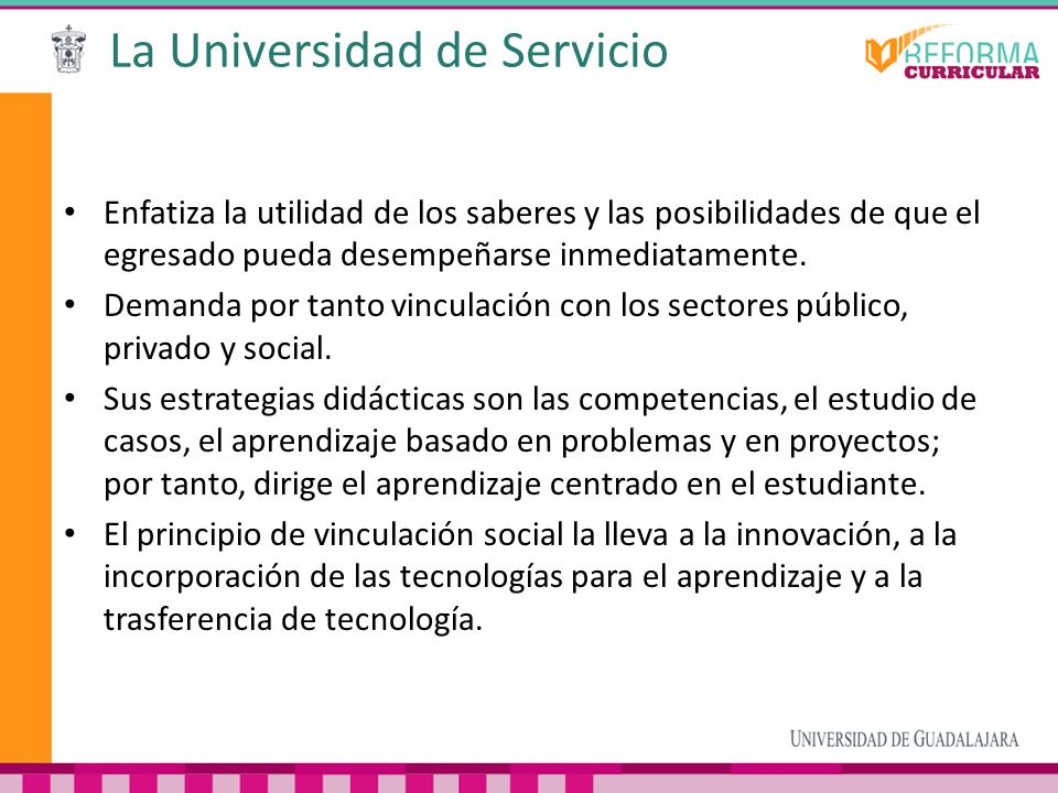 La Universidad de Servicio